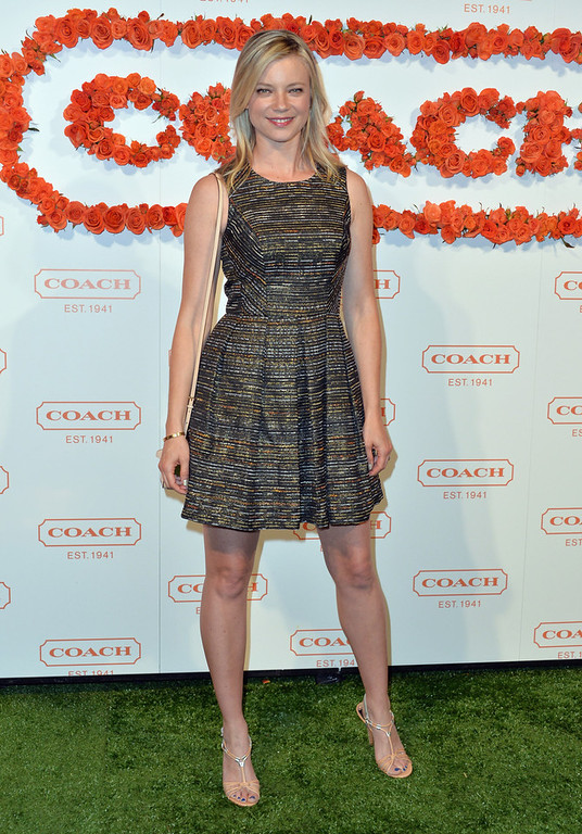 . Actress Amy Smart attends the 3rd Annual Coach Evening to benefit Children\'s Defense Fund at Bad Robot on April 10, 2013 in Santa Monica, California.  (Photo by Alberto E. Rodriguez/Getty Images)