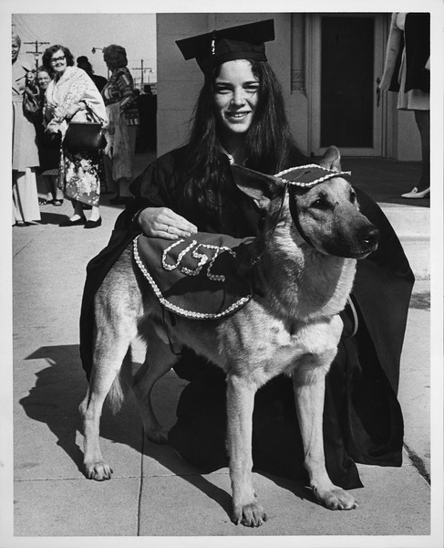 Commencement -- earned dog-torate, 1975