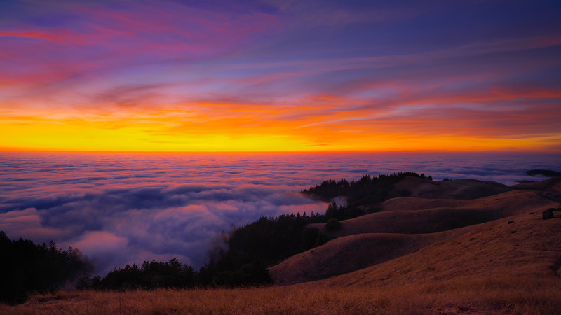 Mt. Tam Foggy Sunset