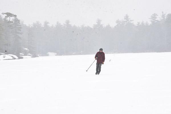 Ice skating on Kilburn Pond - 011521