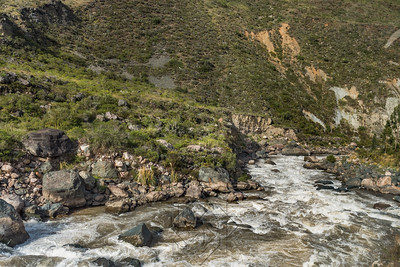Turn in the Urubamba River in Peru