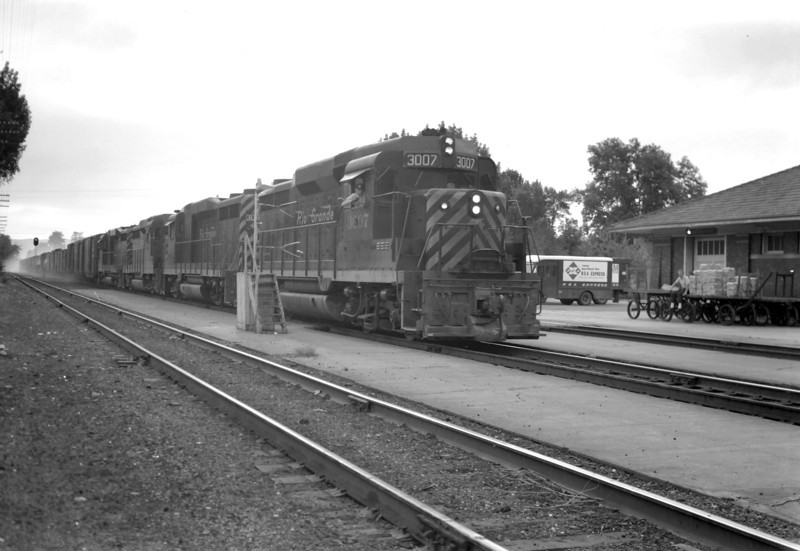 D&RGW passing through Provo. June 9, 1965. <i>(Marvin Black Photo)</i>