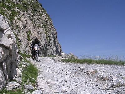 Chris op R1200GS; Col de la Boaire