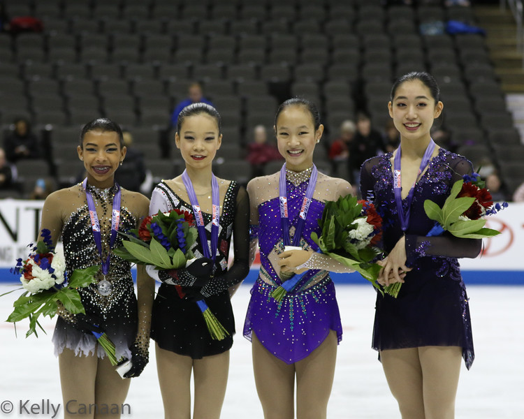 Junior Ladies' Podium