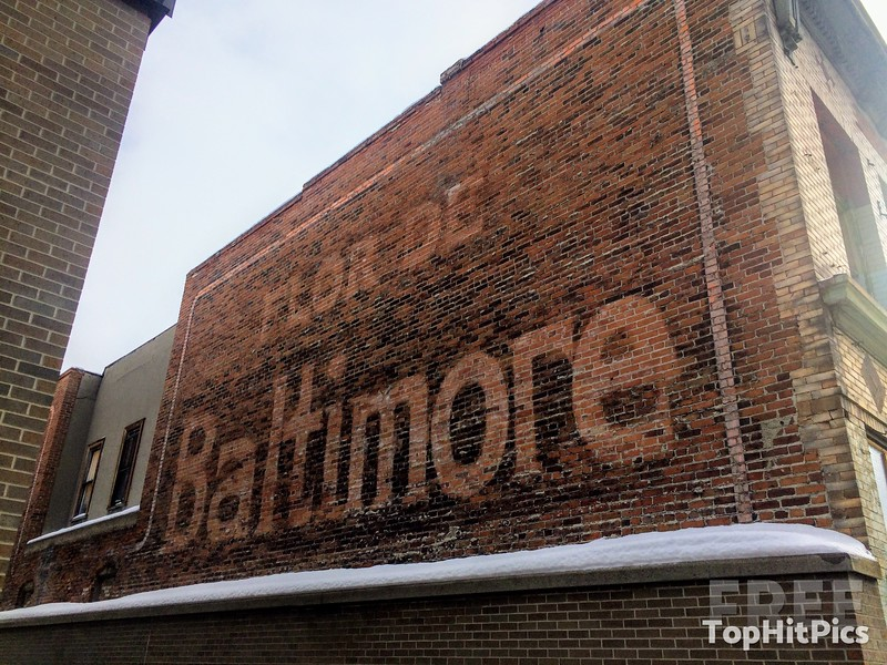 'Flor De Baltimore' Cigar Brand Ghost Sign in Butte, Montana, USA