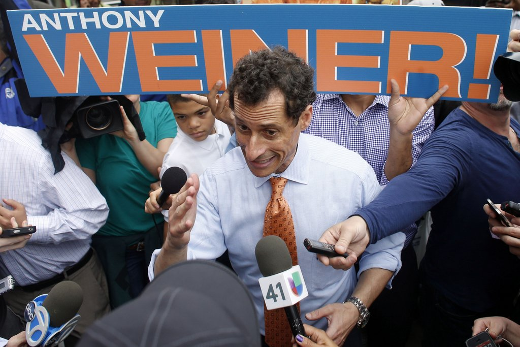 ". <p><b><a href=\'http://www.mediaite.com/online/im-deeply-flawed-new-unverified-images-suggest-anthony-weiner-aka-carlos-danger-still-sexting/\' target=""_blank\""> 1. (tie) Anthony Weiner </a></b> <p>For politicians like �Carlos Danger,� every day is Erection Day. (unranked) <p> --------------------------------------------   (AP Photo/Jason DeCrow)"