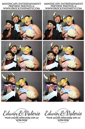 Edwin & Valerie's Wedding - Photo Booth Pictures