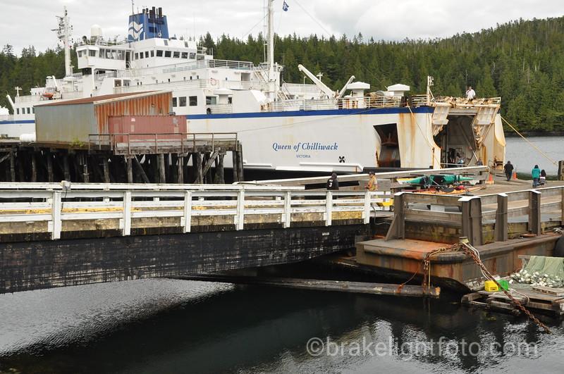 Queen of Chilliwack at Dock in Klemtu