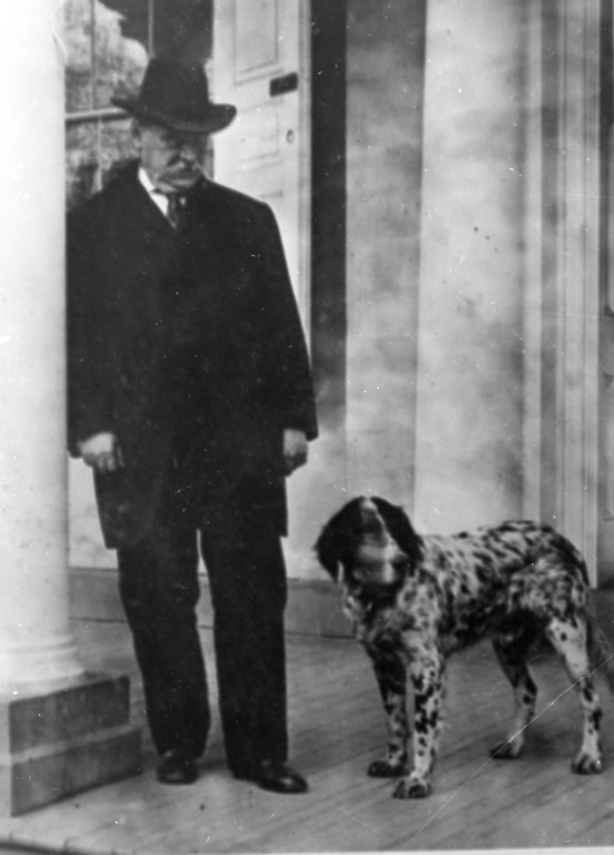 . This is an undated photo of Grover Cleveland with his dog.  Cleveland was the 22nd and 24th U.S. President,1885-9 and 1893-7. (AP Photo)