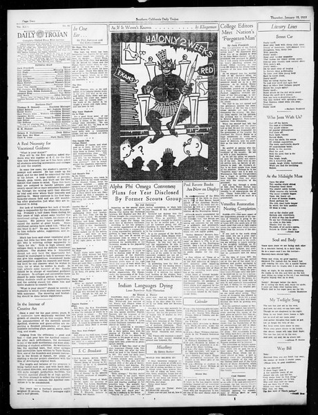 Daily Trojan, Vol. 26, No. 62, January 10, 1935