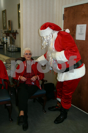 Santa Visits Erwin Health Care - December 2005