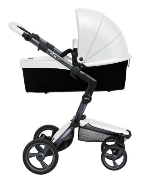 Mima_Xari_Product_Shot_Snow_White_Graphite_Chassis_Side_View_Carrycot.png