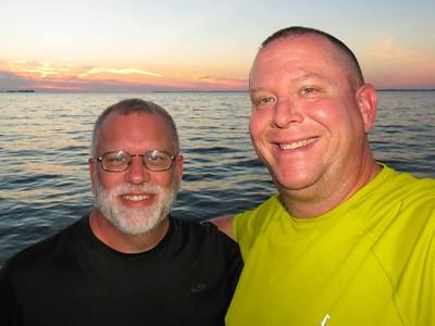2014 August - LJ & Barry Fishing Lake Ontario