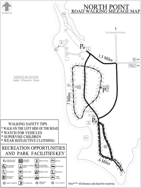 North Point Recreation Area (Road Walking Map)