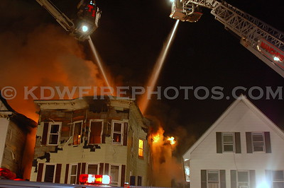 Manchester, NH - 5th Alarm - 335-337-341 Lake St - 1/17/08