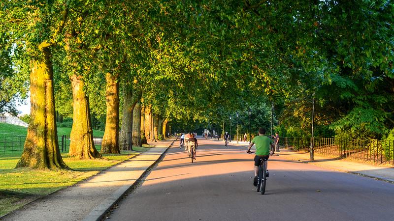 Cycling in Battersea Park