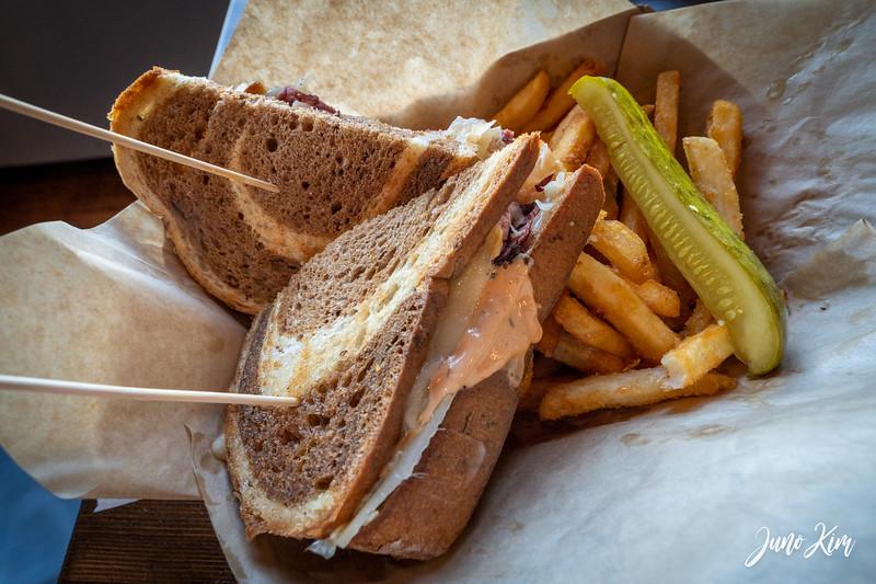 reuben sandwich at Bore Tide Deli