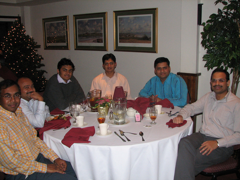 Krishna Kadaba, ?????, ?????, Milind Walke, Vaibhav Patle and Manoj Darak at the party having fun.
