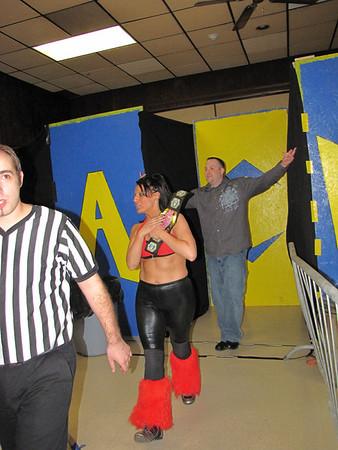 """ACW Women's Championship ACW Women's Champion Nikki Valentine with Kevin Castro vs. """"Portuguese Princess"""" Ariel"""