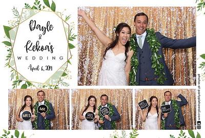Dayle & Kekoa's Wedding (LED Dazzle Photo Booth)