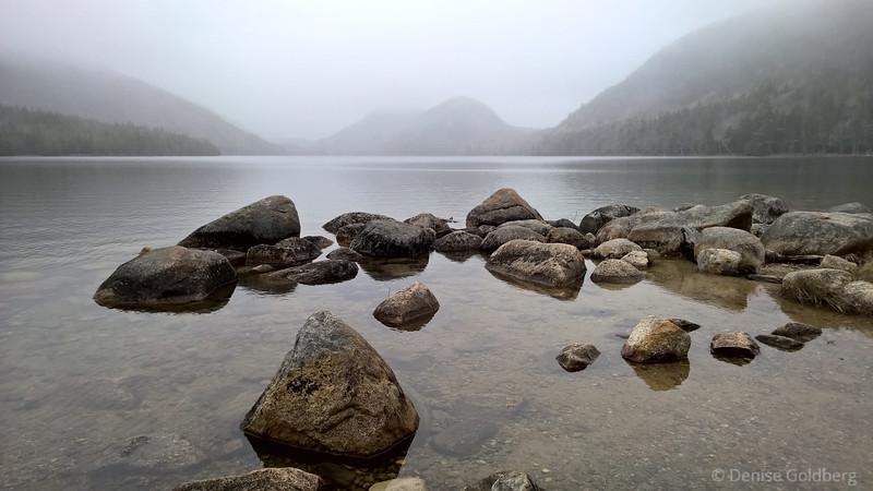 rocks in Jordan Pond