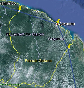 French Guiana route