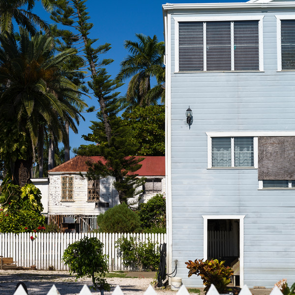 Fa�ade of a house, Ambergris Caye, San Pedro, Northern Belize, Belize