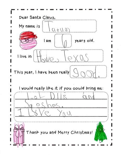 2018 Kindergarten - Mrs. RIchardson Letters to Santa (6).jpg