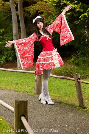 Yilin at Golden Gate Park's Japanese Tea Garden as Lolita