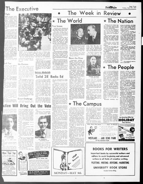 Daily Trojan, Vol. 40, No. 129, April 29, 1949