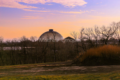 Geodesic dome. The Desert dome Henry Doorly Zoo Omaha Nebraska US .
