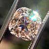 4.03ct Light Fancy Brown Antique Cushion Cut Diamond Halo Ring GIA LFB, SI1 60