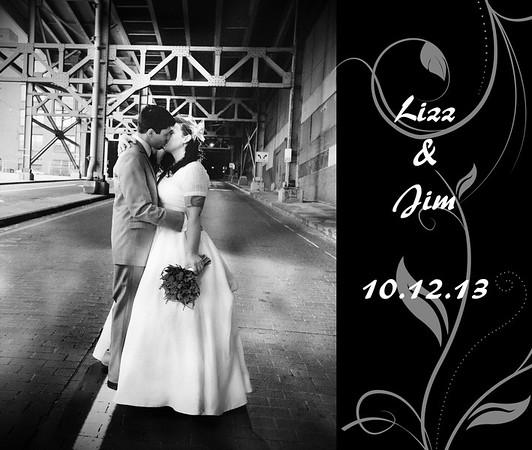 Lizz & Jim 13x11 Wedding Album
