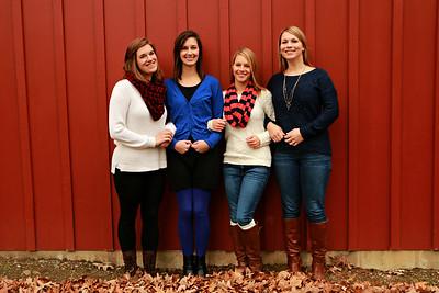 Katie, Sara, Gina & Anna {sisters}
