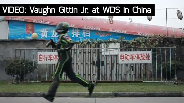 VIDEO: Vaughn Gittin Jr. at WDS in Hangzhou, China