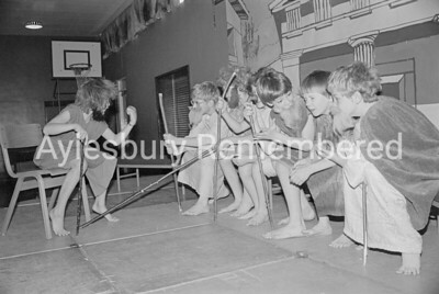 Lysistrata play at Elmhurst Junior School, Dec 1981