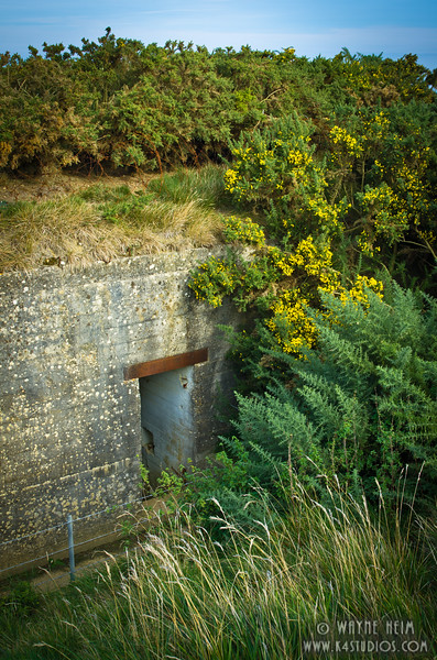 Normandy Bunker 4      Photography by Wayne Heim