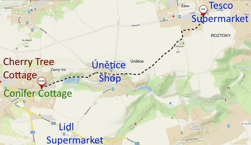 Directions to Tesco 3.6km