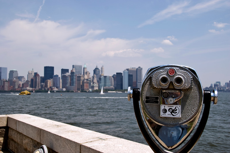 New York from Ellis Island.