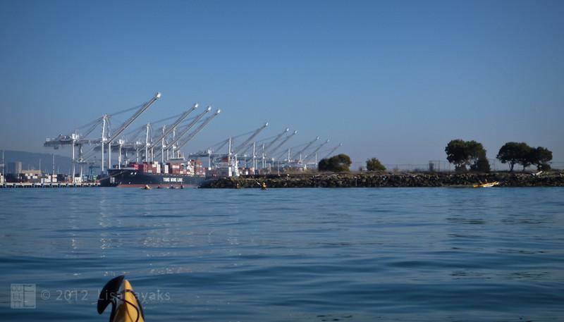 Returning to the Oakland Estuary.