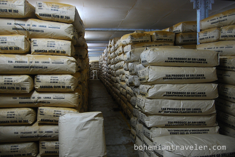 50 kilo packages of tea at Danbatenne Tea Factory