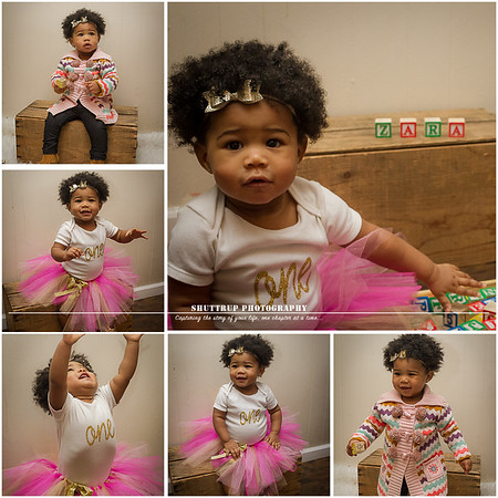 Zara's One Year Session | Shuttrup Baby Photography