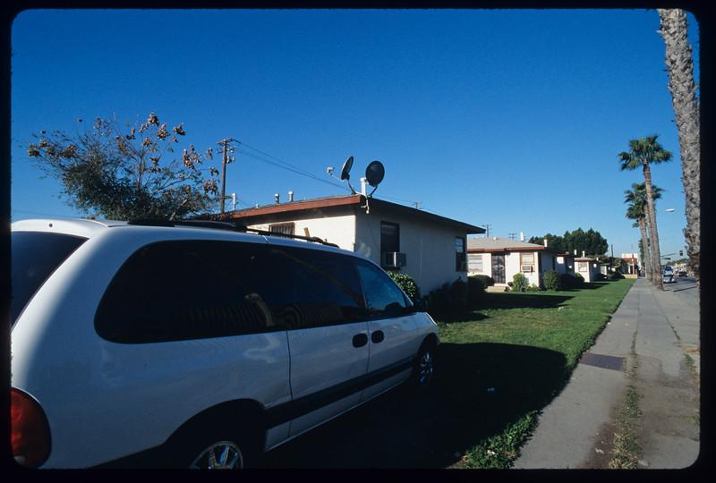X-igent Printing, block of blockish houses on Fidelia Avenue, Washington Boulevard and surroundings, Commerce, 2005