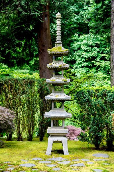 A small stone pagoda