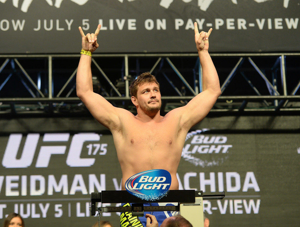 . Matt Mitrione during weigh ins for UFC 175 at the Mandalay Bay Events Center July 4, 2014. (Photo by Hans Gutknecht/Los Angeles Daily News)