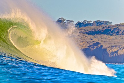 A Breaking Wave at Mavericks.