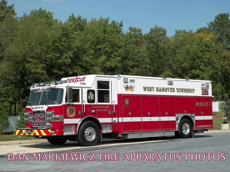 WEST HANOVER TWP. FIRE CO. RESCUE 36-1 2015 PIERCE HEAVY RESCUE