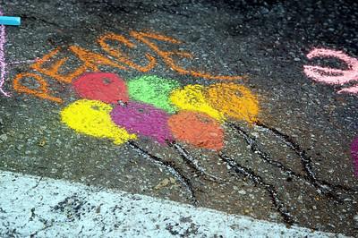 INDIGO PROJECT: Miracle Mile's Artwalk/CHALK4PEACE 2009