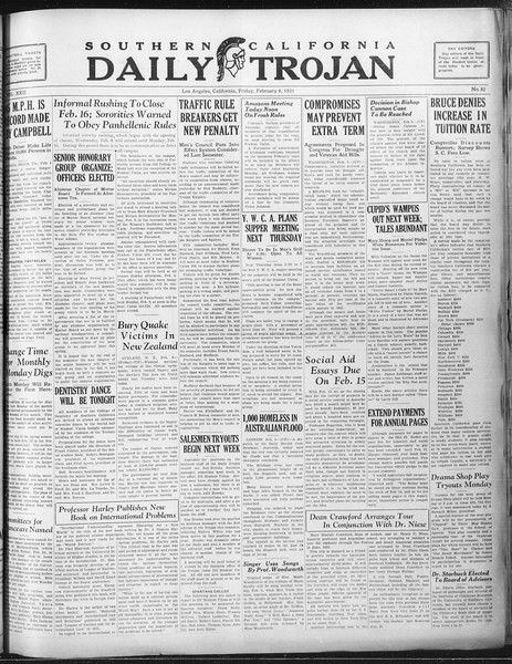 Daily Trojan, Vol. 22, No. 82, February 06, 1931