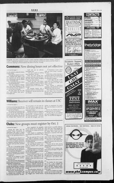 Daily Trojan, Vol. 153, No. 5, August 27, 2004